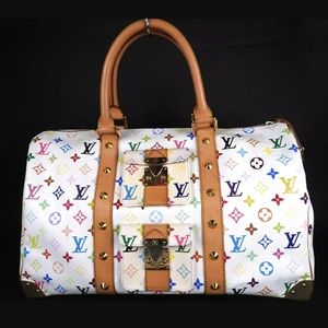 * Louis Vuitton Mono Multicolor Keepall 45 Boston